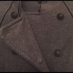Gray large express blazer jacket coat
